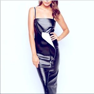French Connection Black Slick Vic Strappy Dress
